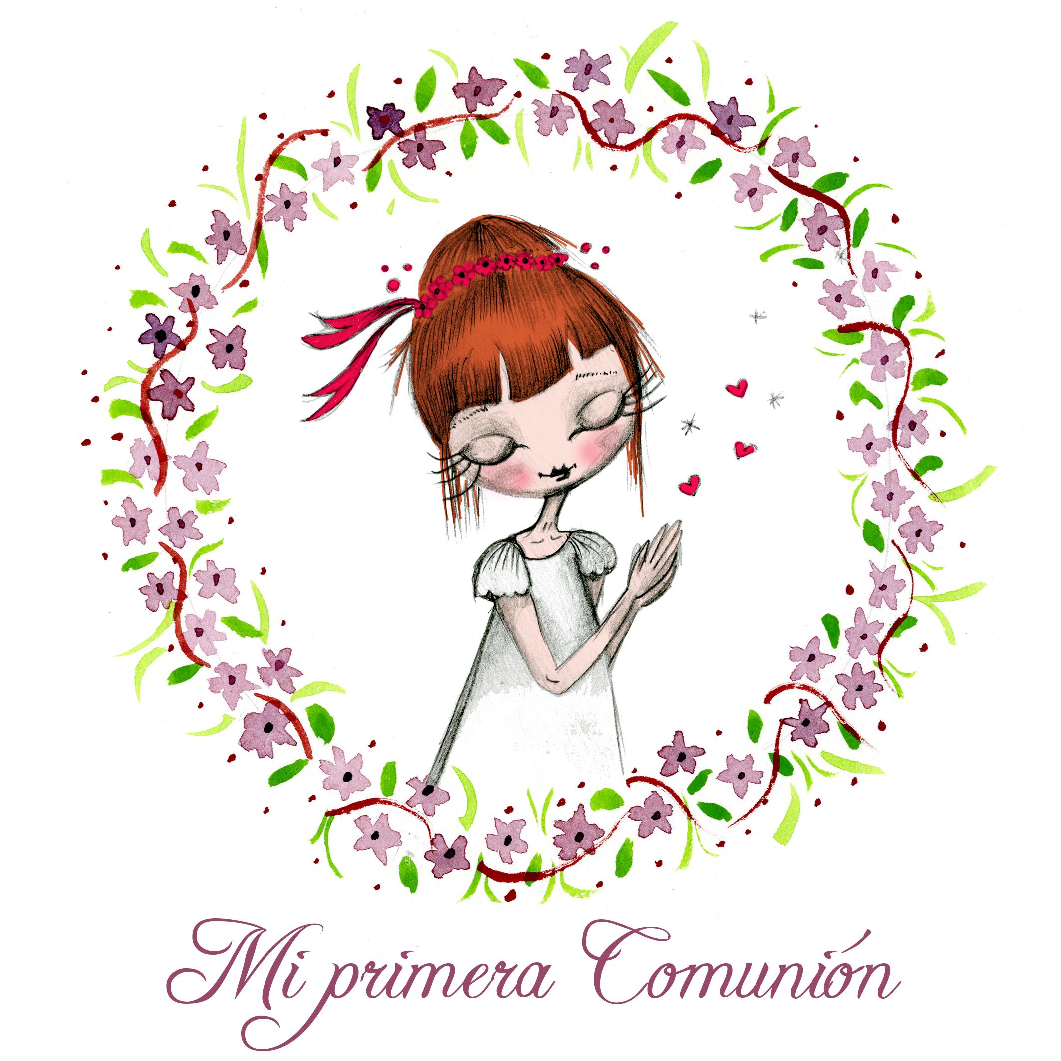 Ilustración personalizada para comunion