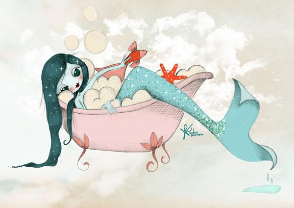 Ilustración de sirena