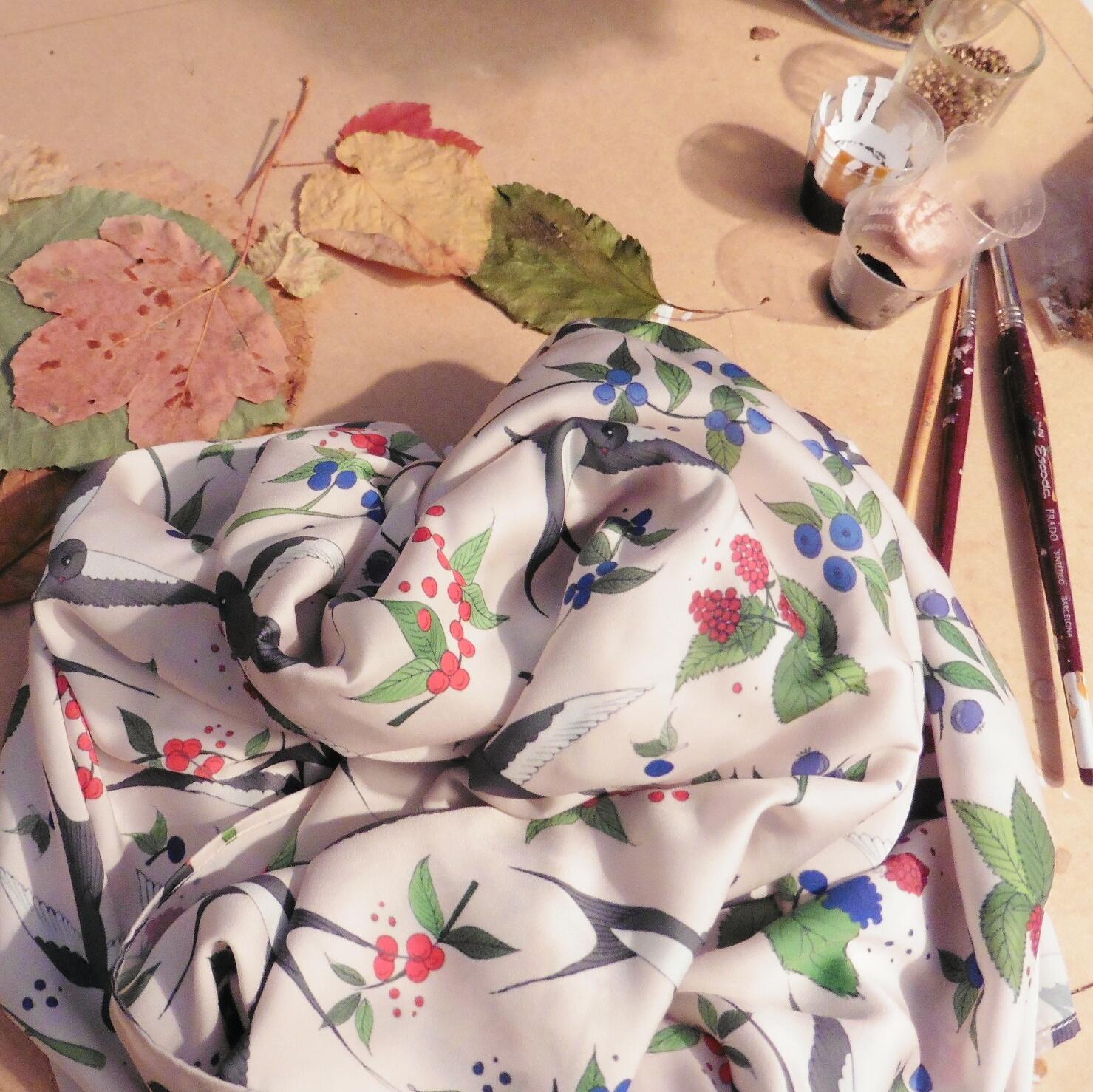 foulard golondrinas