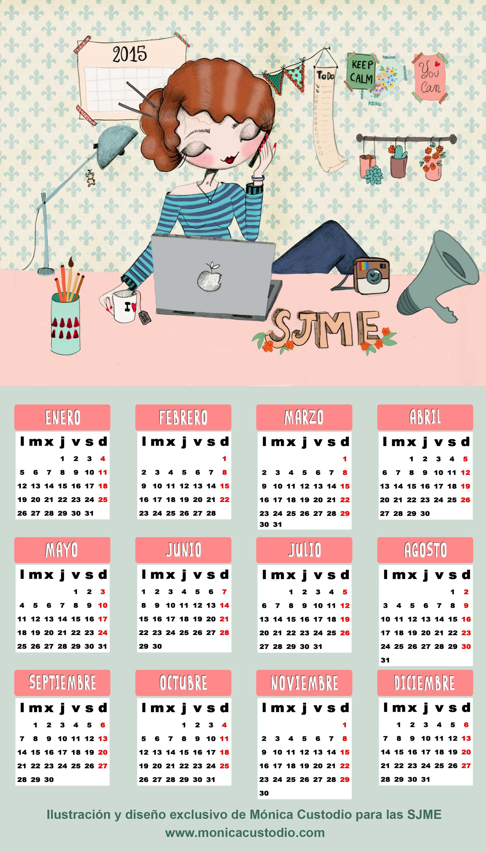 Ilustración personalizada para calendario