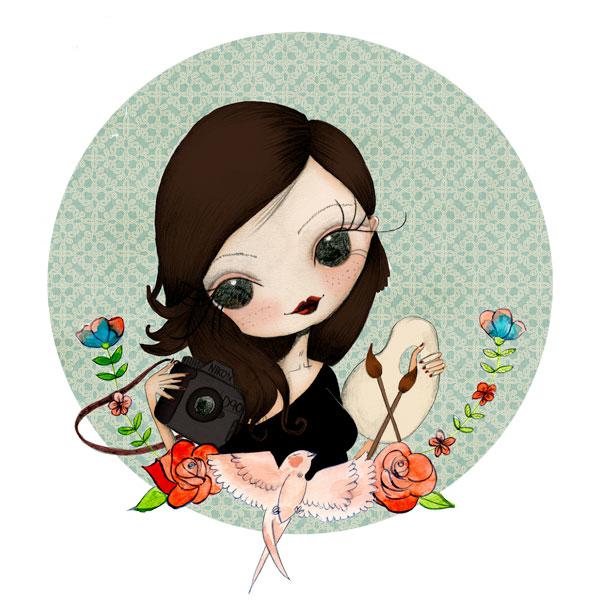 ilustración personalizada de chica