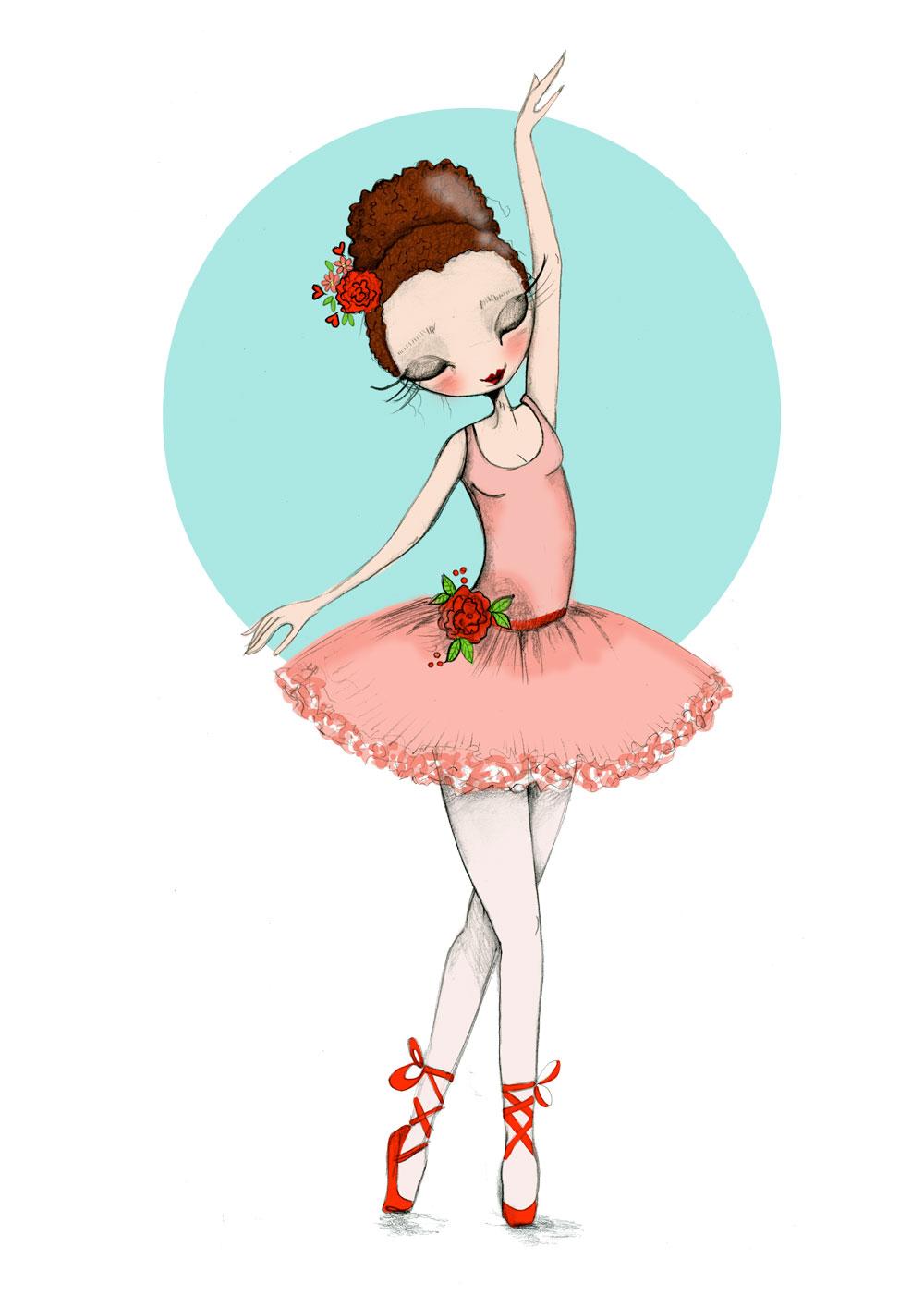 Ilustración personalizada de bailarina