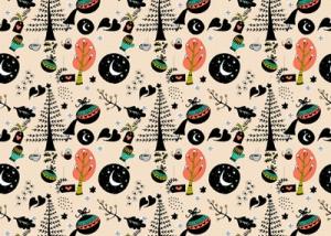 Pattern ilustrado de Navidad