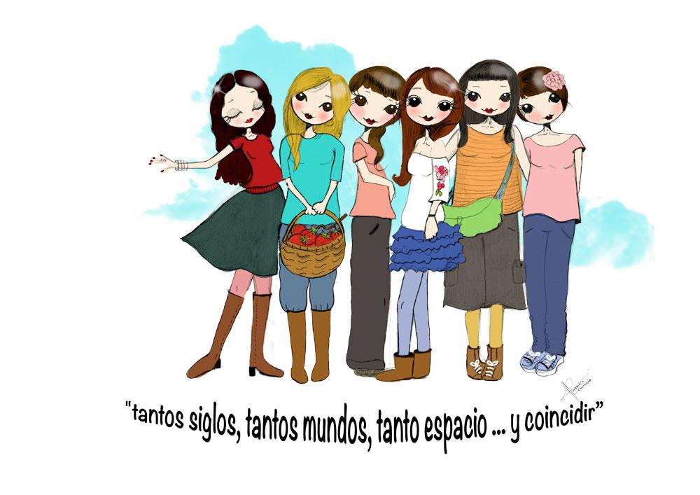 ilustracion personalizada amigas