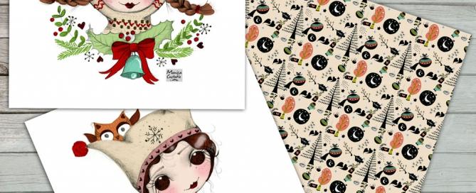 Postales de Navidad Mónica Custodio