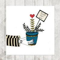 Ilustración de planta corazón