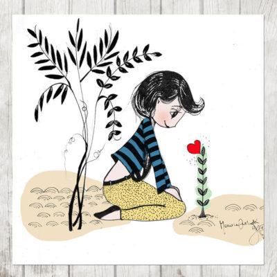 Ilustración personalizada niño