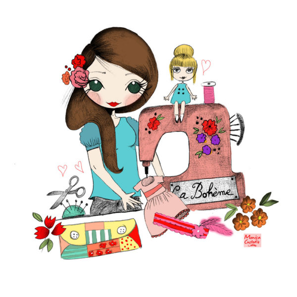 ilustracion personalizada Blythe