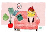"""Ilustración de colección """"Sentada en mi sofá"""""""