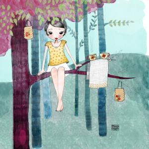 Ilustración de colección Tomando el té