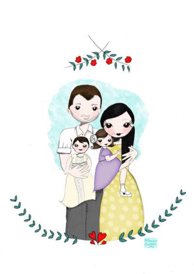 Ilustración personalizada pareja
