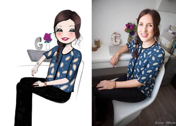 Ilustración Estilo minitú Gemma Fillol