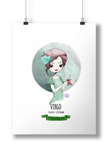 Ilustración Horóscopo Virgo