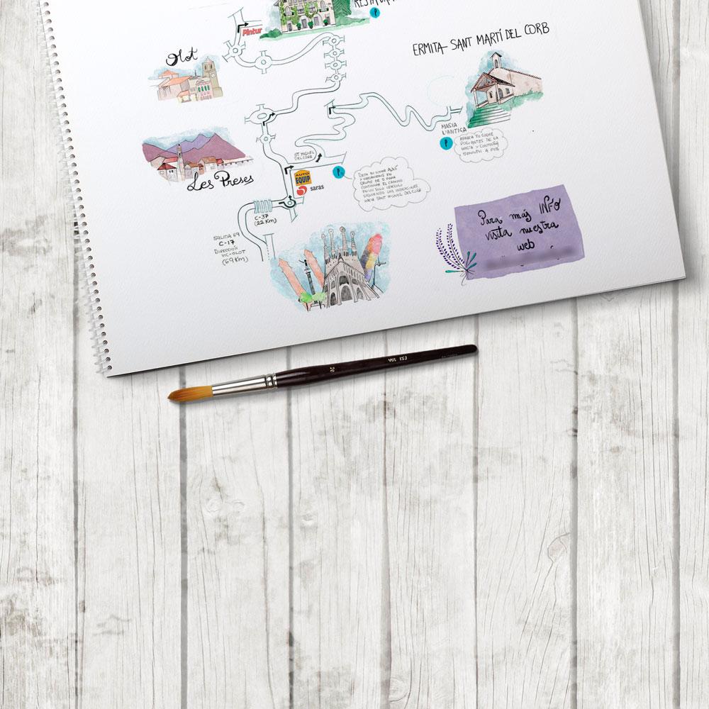 Ilustración personalizada de mapa de boda personalizado