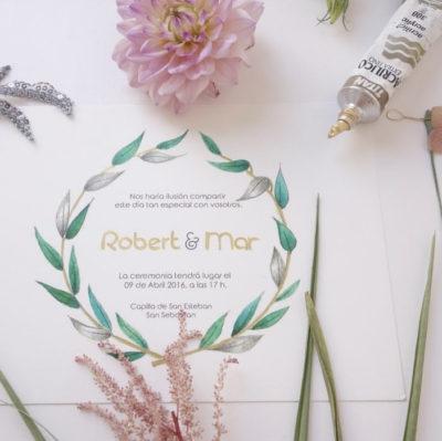 ilustración personalizada invitación boda