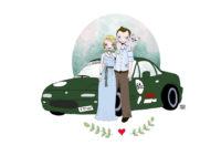 Ilustración personalizada para regalo de boda