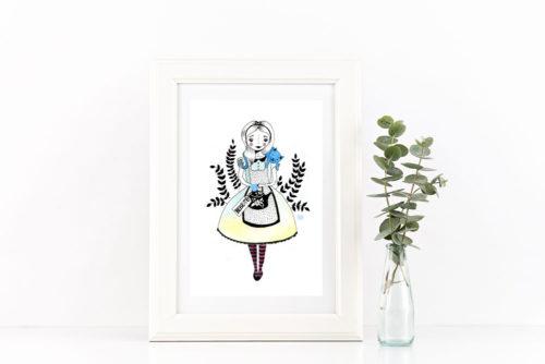 ilustración Alicia y té