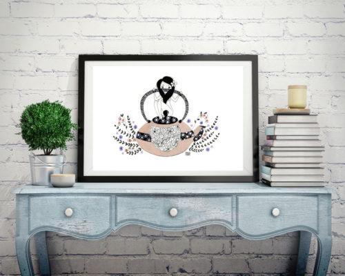 Ilustración té blanco