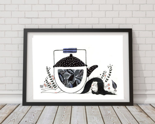Ilustración té negro