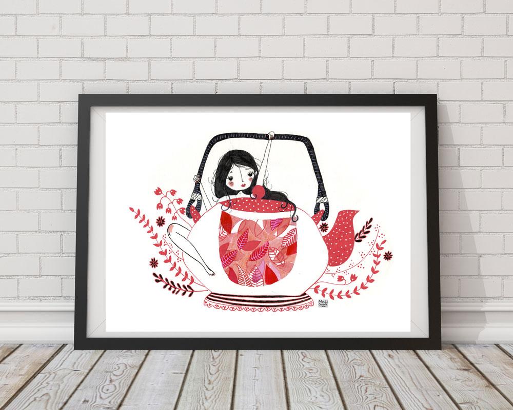 Ilustración té Mónica Custodio