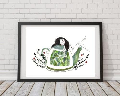 Ilustración té verde