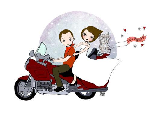 Invitación de boda personalizada Luis y Marian