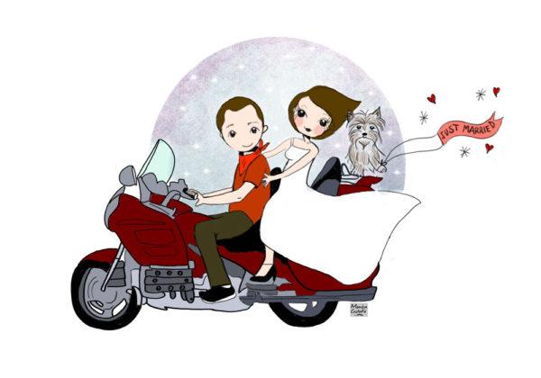 Ilustración personalizada de invitación de boda