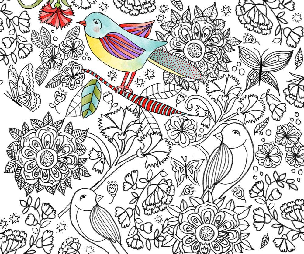 Ilustración estampado textil