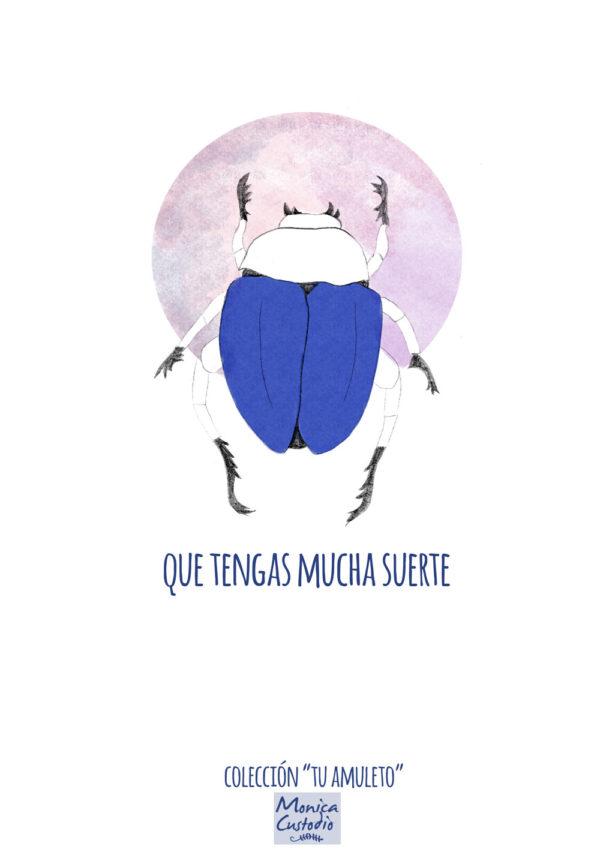 Amuleto Escarabajo de la suerte Mónica Custodio