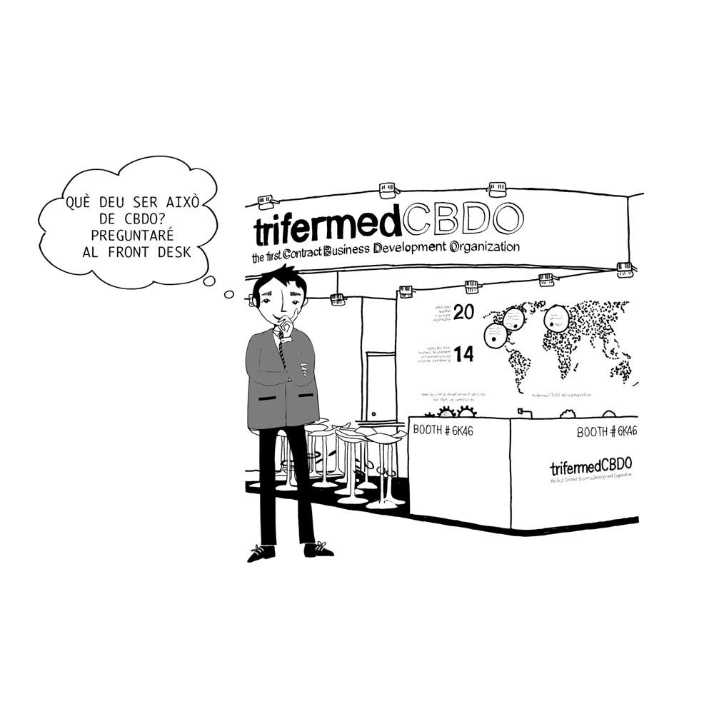 Ilustración para stand de Trifermed