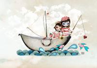 Ilustración personalizada Barquita