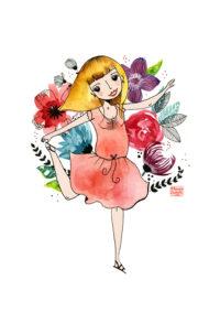 Retrato personalizado ilustrado de Mónica Custodio