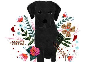 Ilustración personalizada de mascotas- Labrador