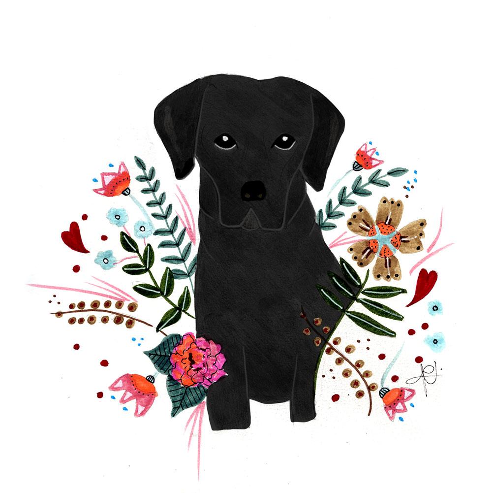 Retrato mascotas Labrador
