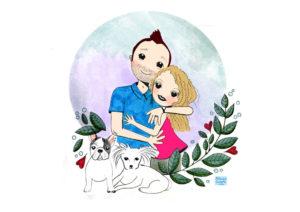 Ilustración personalizada Mónica