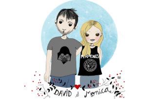 Ilustración personalizada David y Mónica