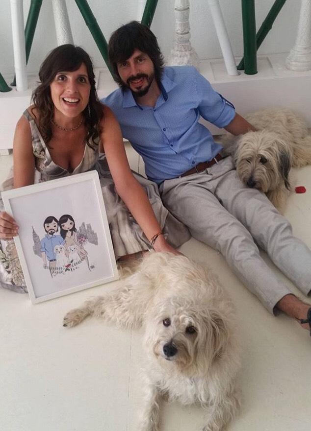 Retrato personalizado Rubén y Eva