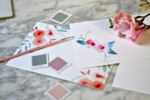 Invitaciones de bodas en acuarela personalizadas