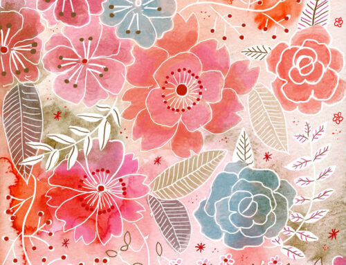 Patter origami pink