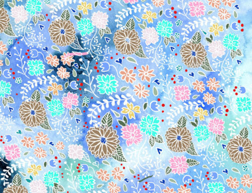 Pattern Origami blue