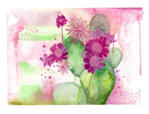 Cactus Acuarela