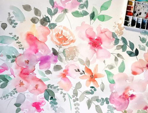 Estampado vintage floral