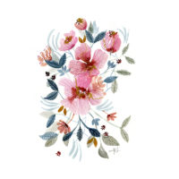 Flores de Acuarela Mónica Custodio