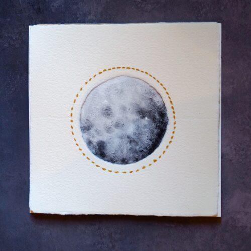 Luna pequeña acuarela