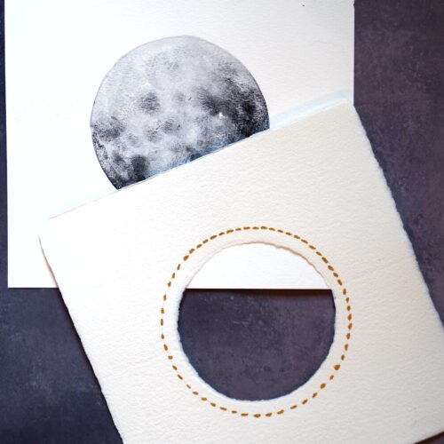 Detalle paspartú para luna